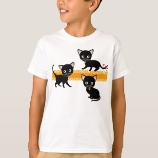 Las 3 camisetas del niño de los gatitos camisas