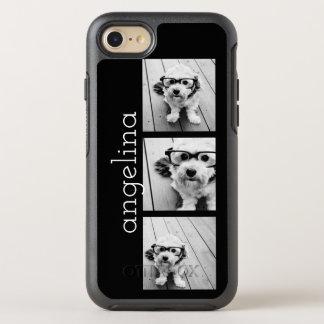 Las 3 fotos de moda y nombre - ELIJA EL COLOR DE Funda OtterBox Symmetry Para iPhone 7