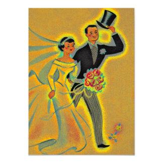 Las 50.as invitaciones de oro del aniversario del invitación 11,4 x 15,8 cm