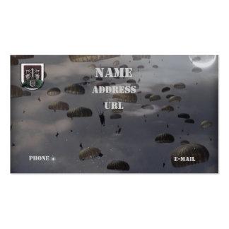 las 5tas fuerzas especiales agrupan la tarjeta de tarjeta de visita
