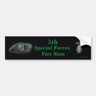 las 5tas fuerzas especiales destellan soldado enro pegatina de parachoque