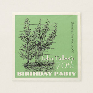 Las 70.as servilletas de papel de la fiesta de