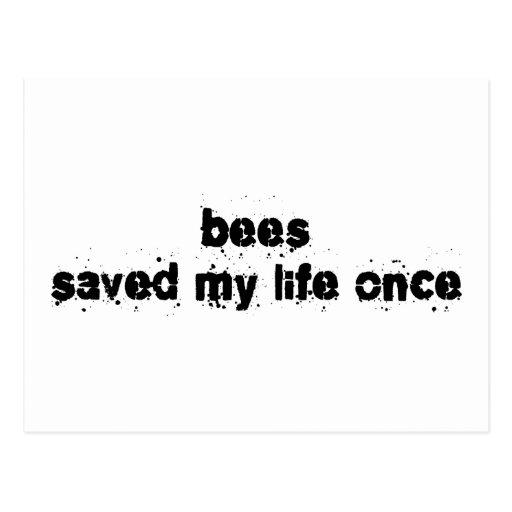 Las abejas ahorraron mi vida una vez postal
