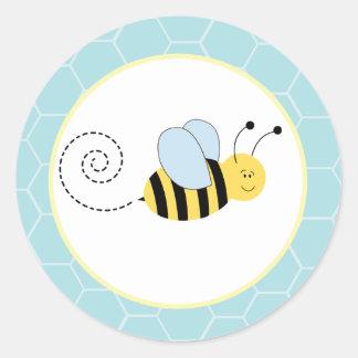 Las abejas de Buzzy manosean los sellos/los Pegatina Redonda
