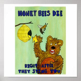 Las abejas de la miel mueren impresiones