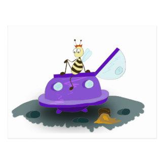 las abejas descargan postal
