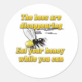 Las abejas están desapareciendo etiquetas redondas