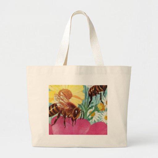 las abejas hacen la miel bolsa tela grande