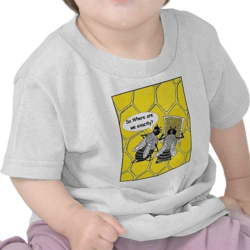 Las abejas perdidas, humor camiseta