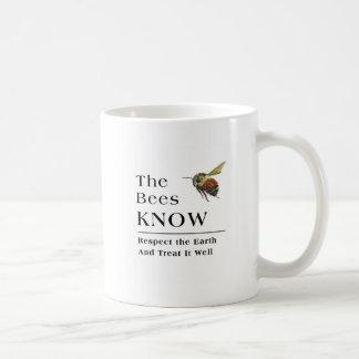 Las abejas saben taza clásica