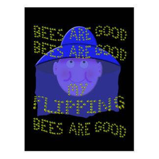 las abejas son buenas tarjeta postal