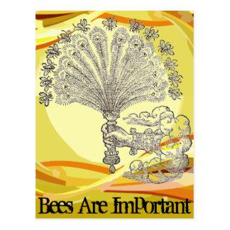 Las abejas son importantes postal