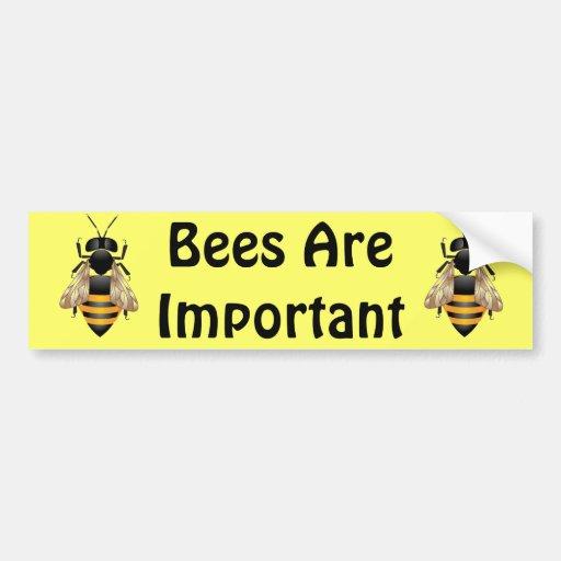 Las abejas son pegatina para el parachoques import pegatina de parachoque