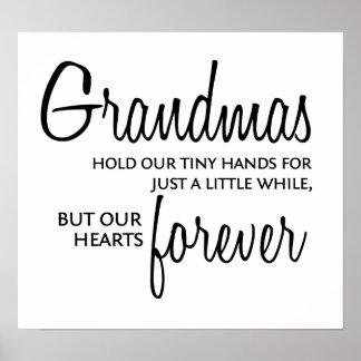 Las abuelas se ennegrecen para siempre póster