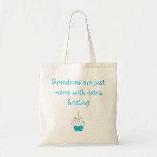 Las abuelas son apenas mamáes con helar adicional bolsa tela barata