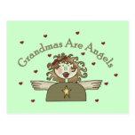 Las abuelas son camisetas y regalos de los ángeles postal