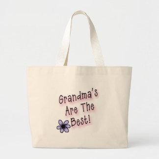 Las abuelas son el mejor bolsa tela grande