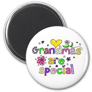 Las abuelas son especiales imán redondo 5 cm
