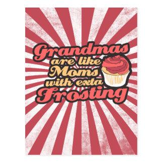 Las abuelas son mamáes con helar adicional tarjetas postales