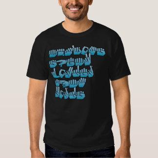 """Las """"acciones hablan más ruidosamente que"""" la camisas"""