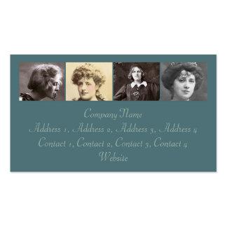 Las actrices #1 tarjetas de visita