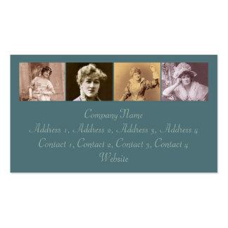 Las actrices #2 tarjetas de visita