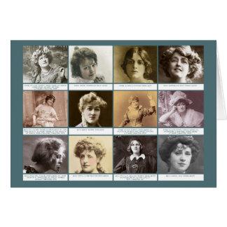 Las actrices tarjeta de felicitación