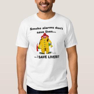 Las alarmas de humo del bombero no ahorran la camisas