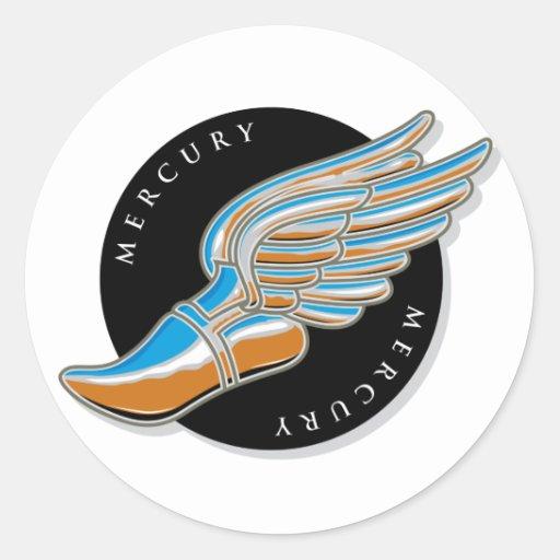 Las alas de Mercury Etiqueta Redonda
