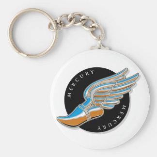 Las alas de Mercury Llavero Redondo Tipo Pin