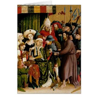 Las alas del altar de Wurzach de Hans Multscher Tarjeta De Felicitación