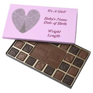 Las alas del ángel es un surtido del chocolate del caja de bombones variados con 45 piezas