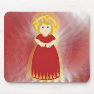 Las alas del ángel rojo del niño del amor divino d tapetes de ratón