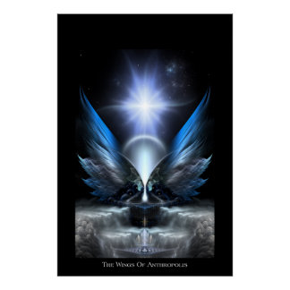 Las alas del poster archival de Anthropolis