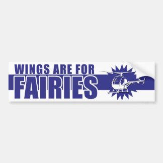 Las alas están para el AZUL de la pegatina para el Etiqueta De Parachoque
