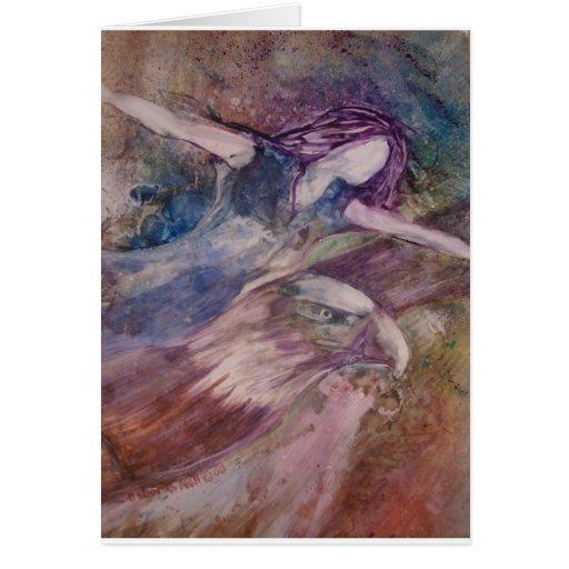 Las alas tienen gusto de la tarjeta de felicitació