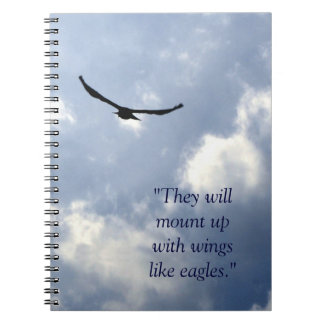 Las alas tienen gusto del cuaderno de Eagles