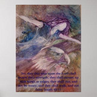 """Las """"alas tienen gusto poster de Eagles"""""""