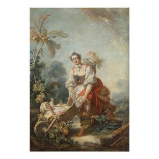 Las alegrías de la maternidad por Fragonard Impresiones Fotograficas
