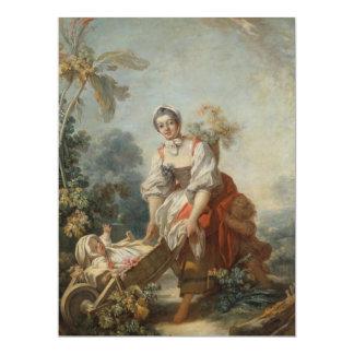 Las alegrías de la maternidad por Fragonard Invitación 16,5 X 22,2 Cm