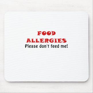 Las alergias alimentarias satisfacen no me mousepads