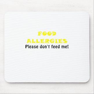 Las alergias alimentarias satisfacen no me tapete de ratones