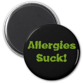 ¡Las alergias chupan! Imán Redondo 5 Cm