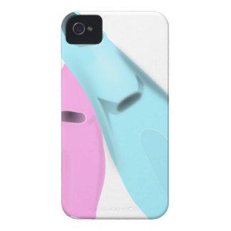 las aletas se zambullen las mujeres rosadas de los iPhone 4 funda