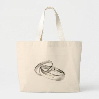 Las alianzas de boda de plata ahorran la fecha bolsa de mano