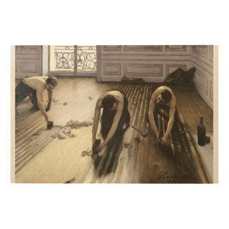 Las alisadoras del entarimado, 1875 cuadro de madera