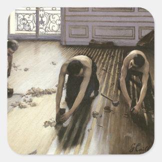 Las alisadoras del entarimado, 1875 pegatina cuadradas personalizadas