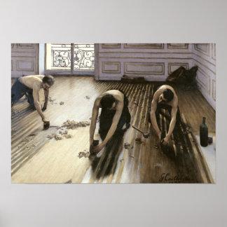 Las alisadoras del entarimado, 1875 póster
