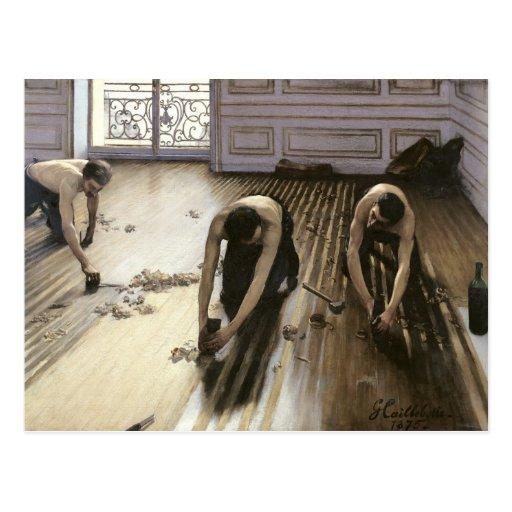 Las alisadoras del entarimado, 1875 postales