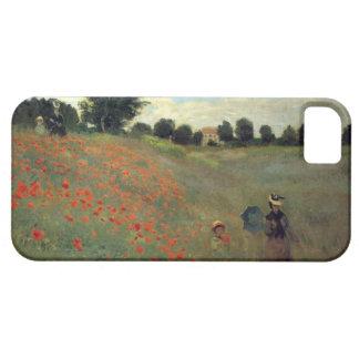 Las altas amapolas salvajes del Res Monet acercan iPhone 5 Carcasa